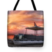 Beer Can Island Sunset Tote Bag