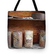 Beer Cans On Shelf Tote Bag
