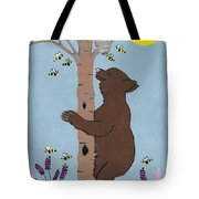 Bees And The Bear Tote Bag