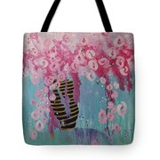 Bees In Pink Tote Bag