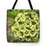 Bees Pollinating Tote Bag