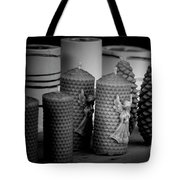 Beeswax Candles With Angels And Pinecones Tote Bag