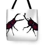 Beetle And Stag Beetle Tote Bag