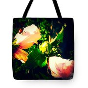Beetle Hanging Out With Hibiscus Flowers Tote Bag