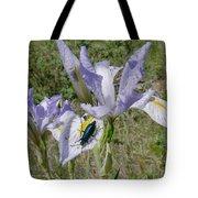 Beetle On Iris Tote Bag