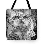 Before The Jump Black And White Tote Bag