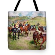 Before The Race Tote Bag by Edgar Degas