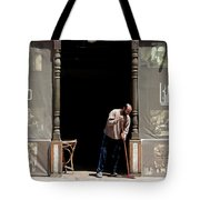 Before The Throng Tote Bag