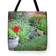 Begonia And Rose Tote Bag