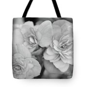 Begonias In Black And White Tote Bag