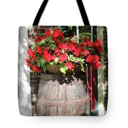 Begonias In The Barrel Tote Bag