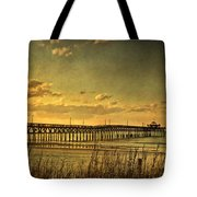 Behind Cherry Grove Pier  Tote Bag