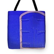 Behind The Blue Door Tote Bag