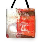 Behind The Corner - Warm Linear Abstract Painting Tote Bag