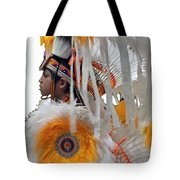 Behind The Feathers-3 Tote Bag
