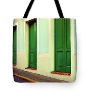 Behind The Green Doors Tote Bag