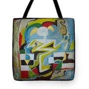 Behind The Moon. Artist. Tote Bag