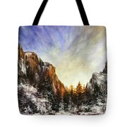 Behind The Mountains  Tote Bag