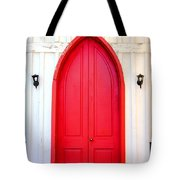 Behind The Red Door Tote Bag