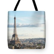 Paris Roofs And Tower Tote Bag