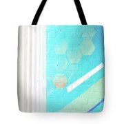 Beige And Turquoise Candy Stripes Tote Bag