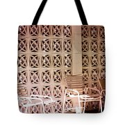 Beige Chairs Palm Springs Tote Bag