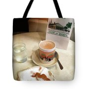 Beignet And Coffee At Cafe Du Monde Tote Bag