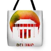 Beijing Landmark Red Tote Bag