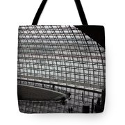 Beijing National Theatre With Silhouettes  Tote Bag