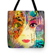 Beijing Opera Girl  Tote Bag
