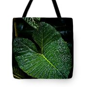 Bejeweled Leaf Tote Bag
