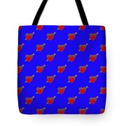 Bejewelled Heart Half Drop Tote Bag