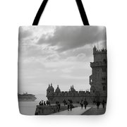 Belem And The Boat Tote Bag