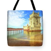 Belem Tower Reflects Tote Bag