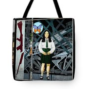 Belfast Mural - Butterfly - Ireland Tote Bag