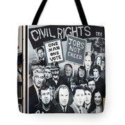 Belfast Mural - Civil Rights - Ireland Tote Bag