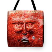 Belfast Wall - Red Face - Ireland Tote Bag