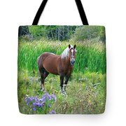 Belgian In Flowers Tote Bag