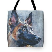 Belgian Malinois In Winter Tote Bag