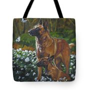 Belgian Malinois With Pup Tote Bag