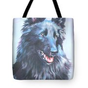 Belgian Sheepdog Portrait Tote Bag