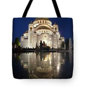 Belgrade Serbia Orthodox Cathedral Of Saint Sava  Tote Bag