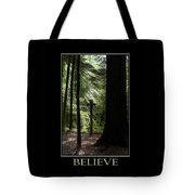 Believe Inspirational Motivational Poster Art Tote Bag by Christina Rollo