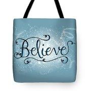 Believe Winter Art Tote Bag