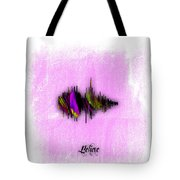 Belive Recorded Soundwave Collection Tote Bag