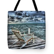 Belize Beach Chair #2 Tote Bag