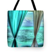 Belize Curtains #1 Tote Bag
