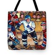Bell Center Hockey Art Goalie Carey Price Makes A Save Original 6 Teams Habs Vs Leafs Carole Spandau Tote Bag