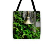 Bell On The Garden Gate  Tote Bag