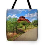 Road To Bell Rock In Sedona Tote Bag by Ola Allen